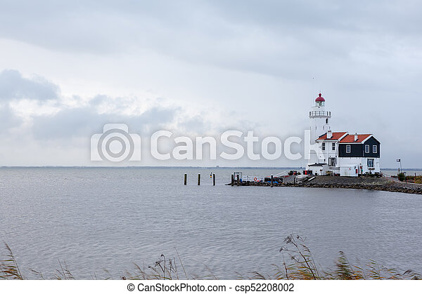 lighthouse on a cloudy day - csp52208002