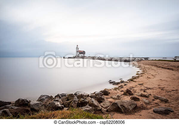 lighthouse on a cloudy day - csp52208006
