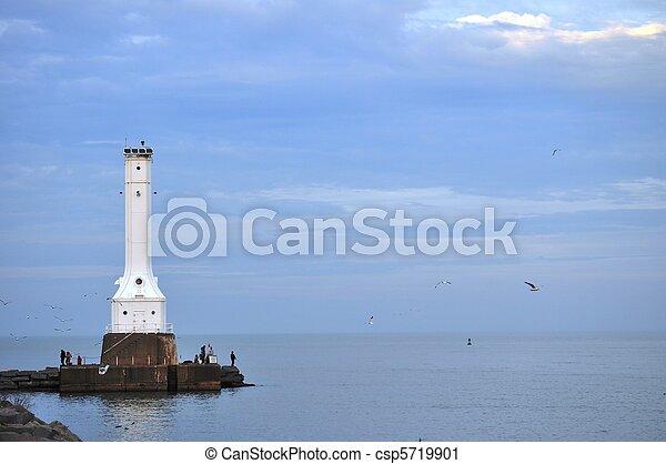 Lighthouse on Lake Erie - csp5719901