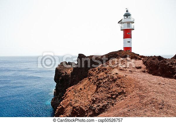 lighthouse on the ocean - csp50526757