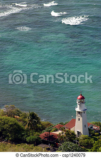 Lighthouse on the shore - csp1240079