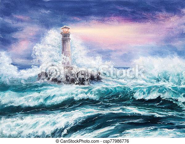 Lighthouse - csp77986776