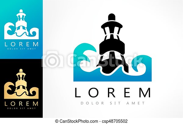 lighthouse vector logo - csp48705502