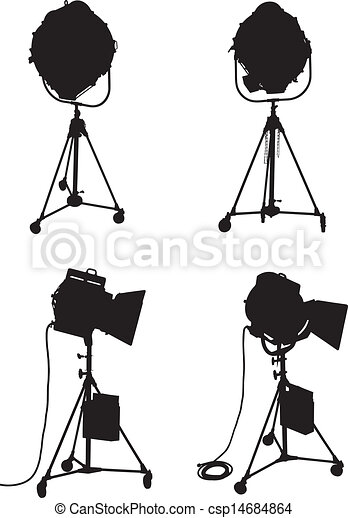 Lighting Equipment Set - csp14684864  sc 1 st  Can Stock Photo & Lighting equipment set. Set of four professional lighting... clip ... azcodes.com