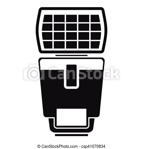 Lighting flash for camera icon, simple style - csp41070834