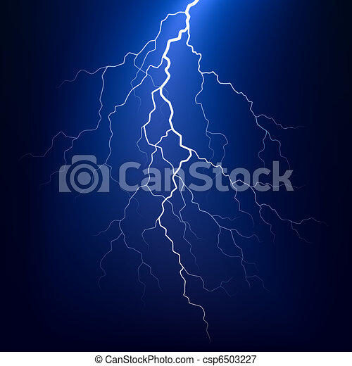 Lightning bolt at night - csp6503227