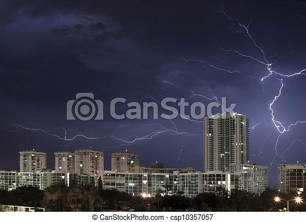 Lightning bolt in sky - csp10357057