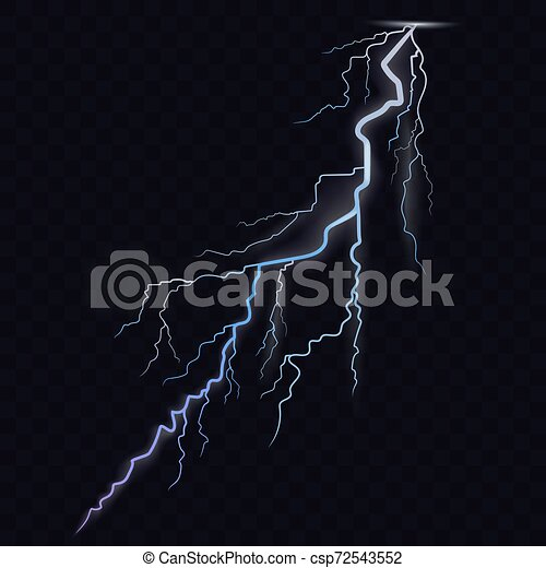 Lightning Bolt Thunderbolt Glowing Realistic Light Effects Stormy Weather Glow And Sparkle Vector Lightning Bolt On