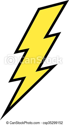 lightning bolt vector icon clipart vector search illustration rh canstockphoto com lightning bolt clip art black and white lightning bolt clipart black and white