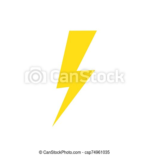 lightning icon vector yellow lightning icon electric power logo design element isolated can stock photo