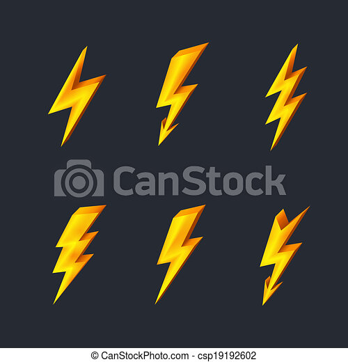 Lightning icons - csp19192602