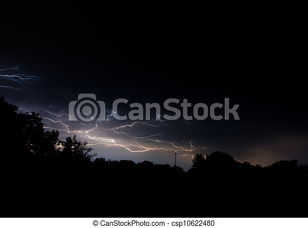 Lightning in the night sky - csp10622480