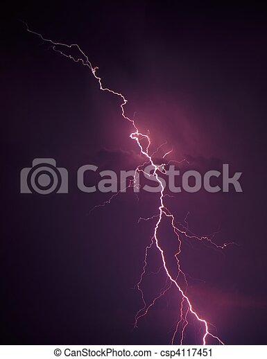 Lightning - northern Illinois - csp4117451