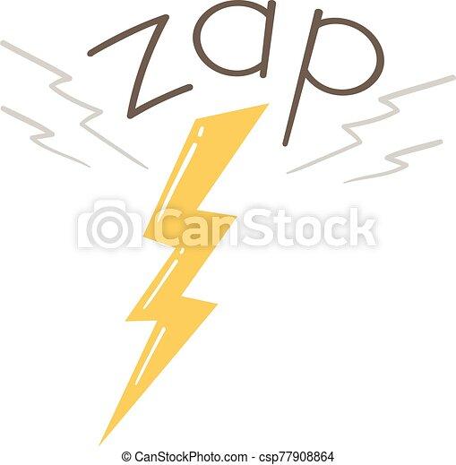 Lightning Onomatopoeia Sound Zap Illustration - csp77908864