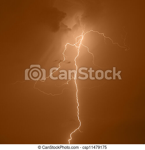 Lightning strike - csp11479175