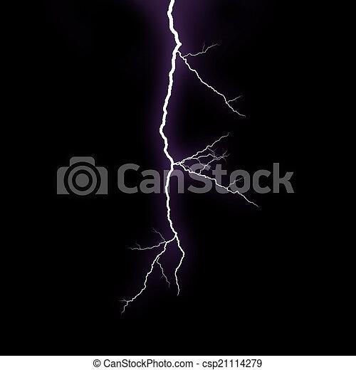 Lightning strike - csp21114279