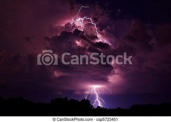 Lightning strike - csp5723451