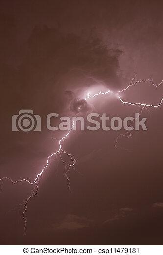 Lightning strike - csp11479181