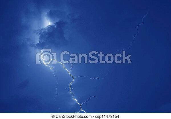 Lightning strike - csp11479154