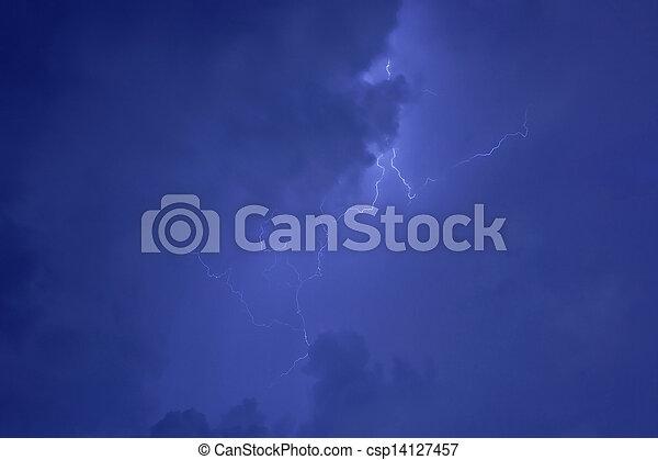 Lightning strike - csp14127457