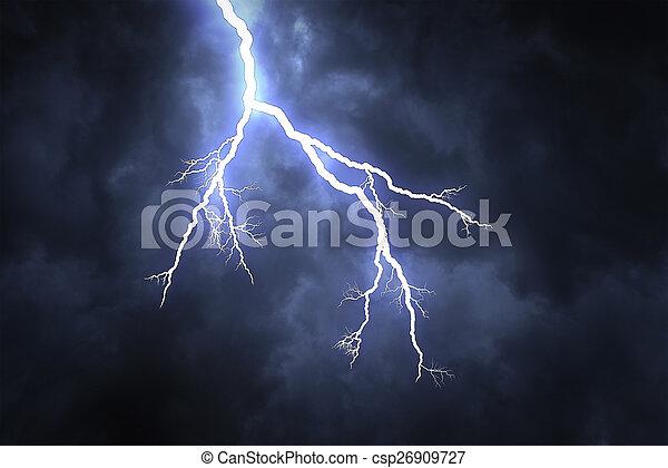 Lightning strike  - csp26909727