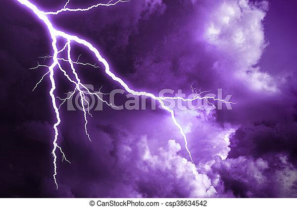 Lightning strike. - csp38634542