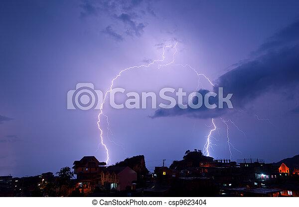 Lightning strike - csp9623404
