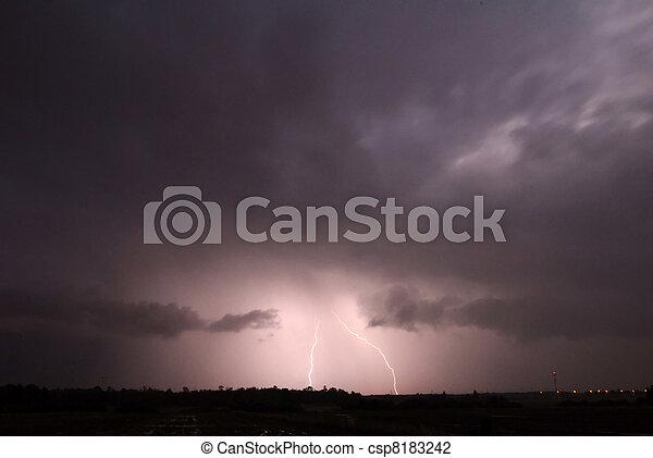 Lightning Strike Thunderstorm - csp8183242