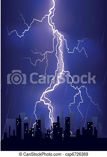 Rain Storm Drawing