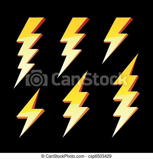 Lightning symbols - csp6503429