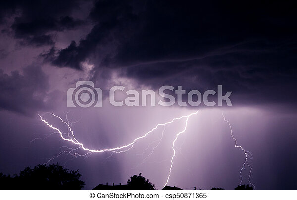 Lightning with a thunder - csp50871365