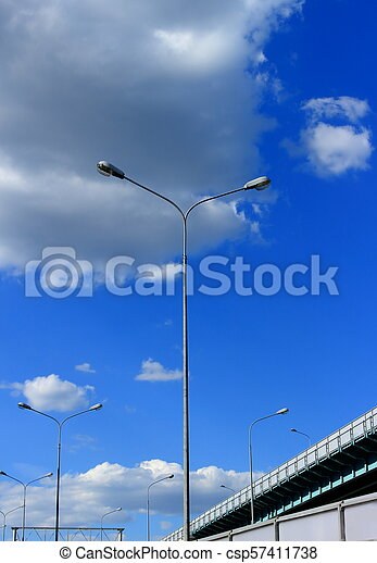 Lights against the sky in daytime - csp57411738