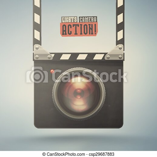 Lights, Camera, Action! - csp29687883