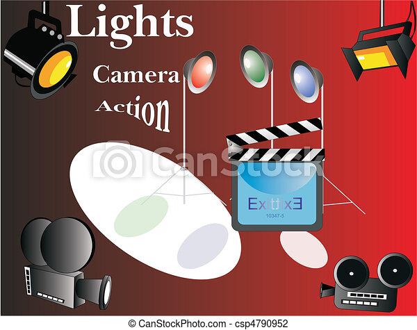 Lights.. Camera Action... - csp4790952