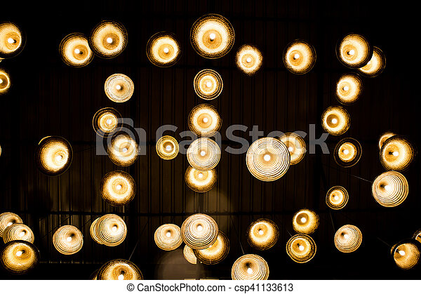 lights from the ceiling background - csp41133613