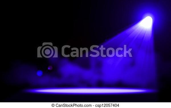 Luces de escenario. Ilustración. - csp12057404