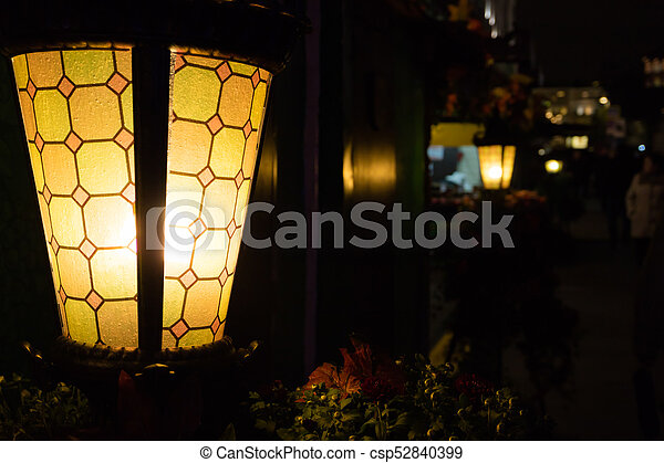 Lights in the city at night - csp52840399
