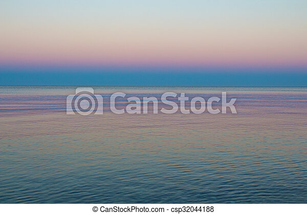 Lights of sea in the morning - csp32044188