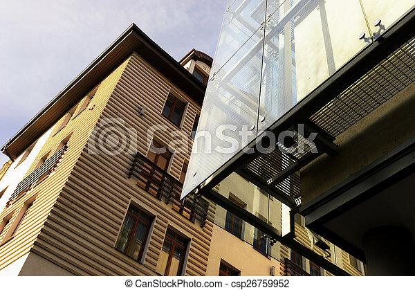 ligne, bâtiments, riga, moderne, école - csp26759952