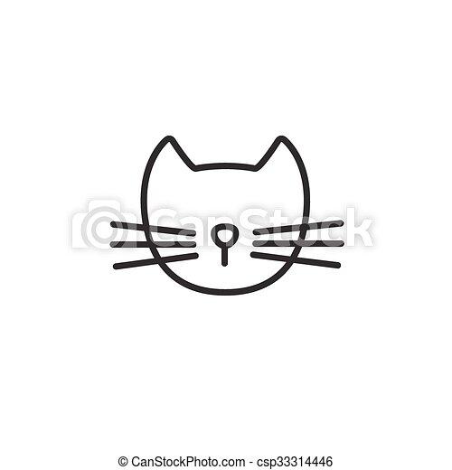 ligne, chat, icône - csp33314446