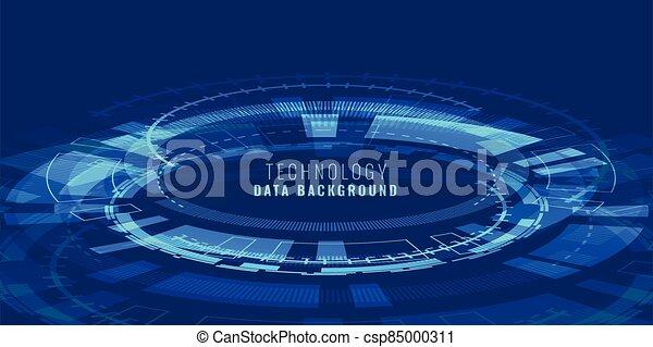 lignes, technologie de pointe, perspective, diagramme, bannière, futuriste - csp85000311