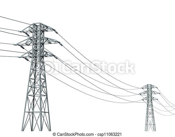 lijn, witte achtergrond, macht - csp11063221