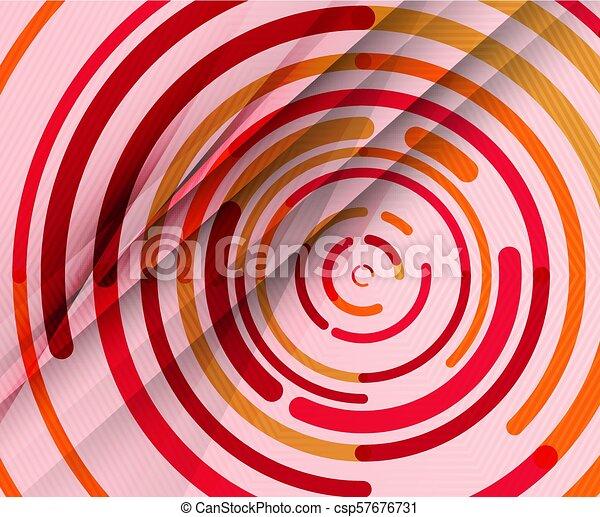lijnen, abstract, cirkels, achtergrond, geometrisch, circulaire - csp57676731