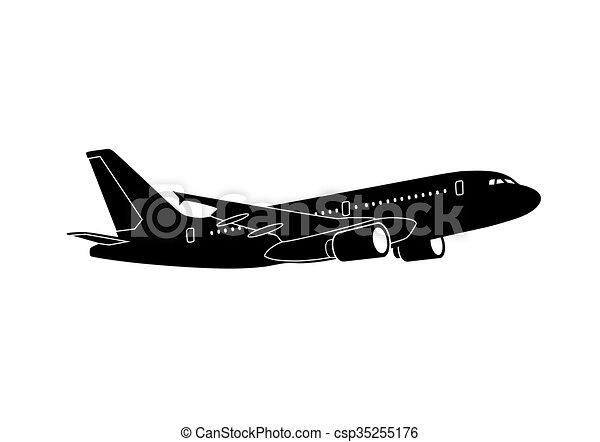 lijnvliegtuig, straalvliegtuig - csp35255176
