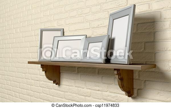 Plank Voor Lijstjes.Lijstjes Plank Perspectief Afbeelding