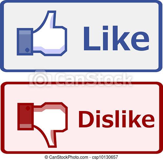Like and dislike button - csp10130657