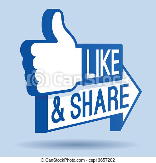 Like and Share Thumbs Up Symbol - csp13657202