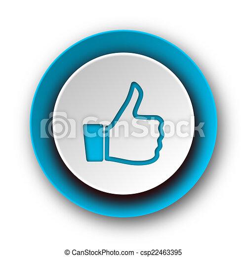 like blue modern web icon on white background - csp22463395