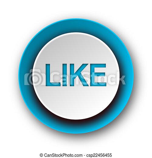 like blue modern web icon on white background - csp22456455