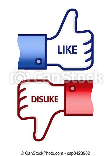 Like Dislike Thumb Up Sign - csp8423982